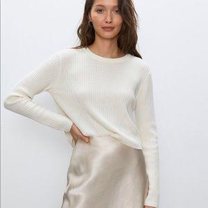 Babaton New Nathaniel Crop Sweater Cream XXS NWT
